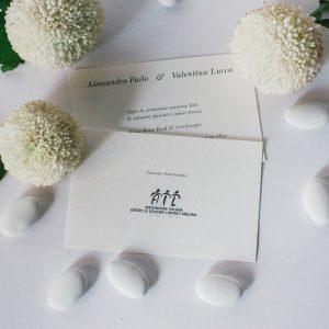 Inviti semplici realizzati in carta acquarello millerighe