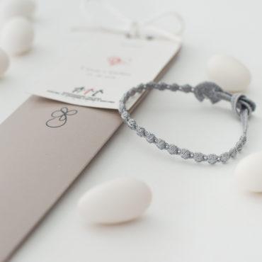 Bracciale cruciani grigio perla